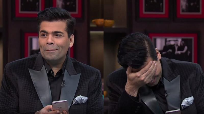 Karan Johar was visibly embarrassed when Twinkle Khanna went at him, unabashedly.