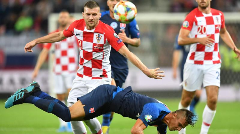 Home keeper Emil Balayev twice denied Nikola Vlasic and also kept out a pair of Ante Rebic sitters in the first half, while Azerbaijan had two goals correctly ruled out for offside in an action-packed encounter. (Photo:AFP)