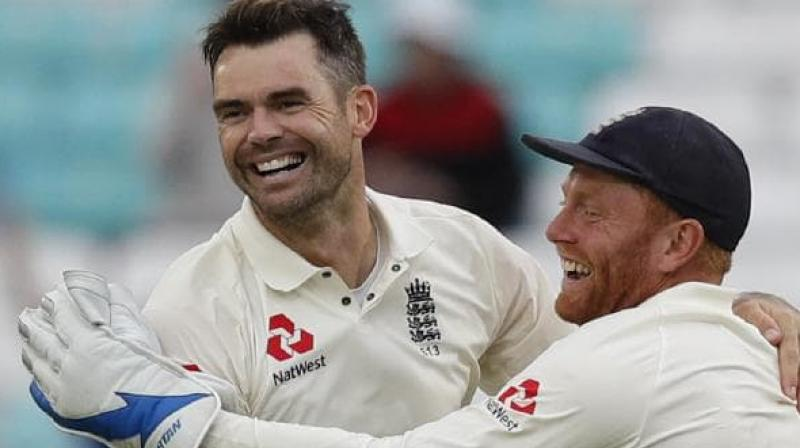 England paceman James Anderson hopes to overcome a calf problem that forced him out of the Ashes series. (Photo:AFP)