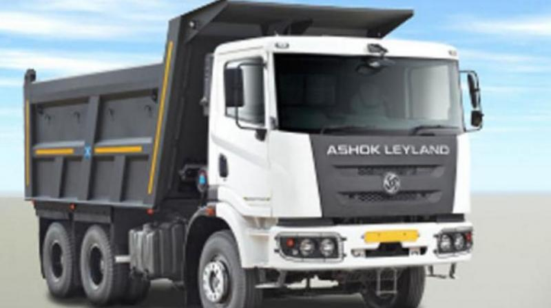 Ashok Leyland said sales of medium and heavy commercial vehicles in the domestic market declined 69 per cent to 4,035 units as compared to 13,056 units in the same month last year.