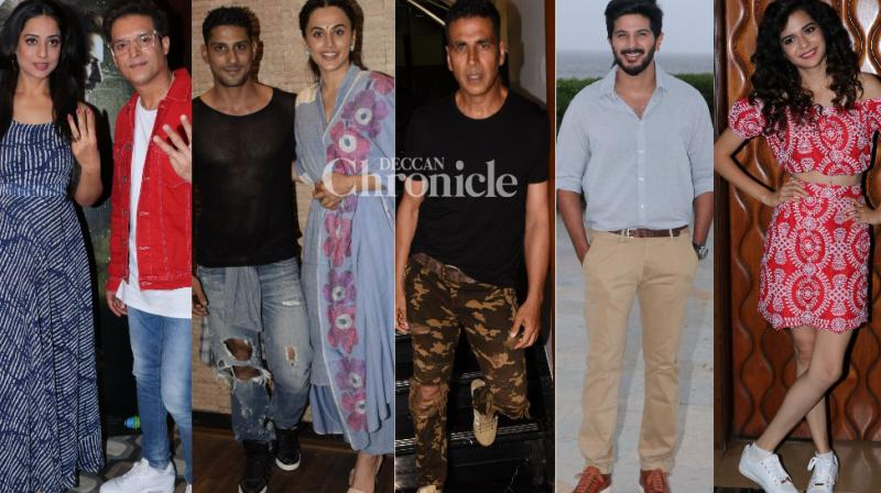 Bollywood celebrities indulged in promotional activities for their films in Mumbai on Friday and were snapped. (Photos: Viral Bhayani)