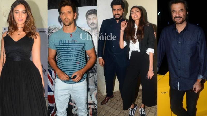 'Mubarakan' and 'Raag Desh', two films releasing on Friday, was showcased to Bollywood stars at separate events in Mumbai on Thursday. (Photo: Viral Bhayani)