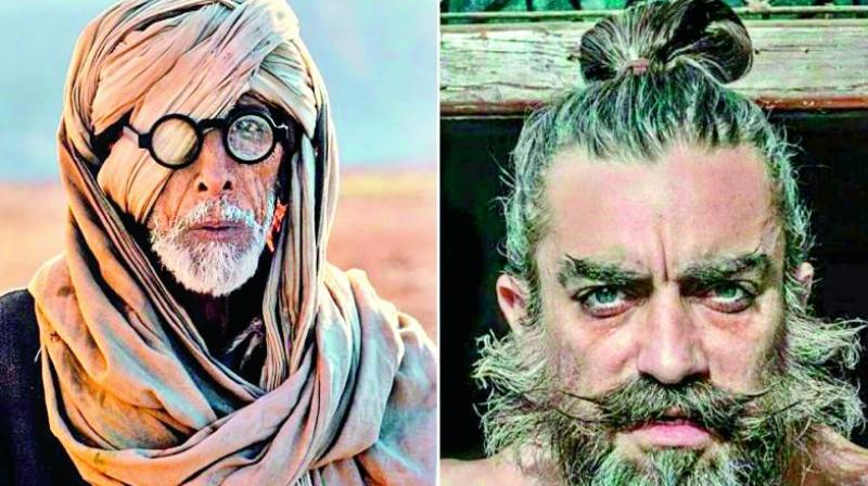 Amitabh Bachchan and Aamir Khan from Thugs of Hindostan