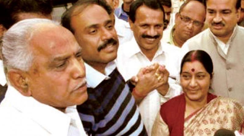 As the BJP state president B.S. Yeddyurappa led 'Karnataka Parivartana Yatra' is set to enter the district on Thursday, the ruling Congress dealt a severe blow to BJP.