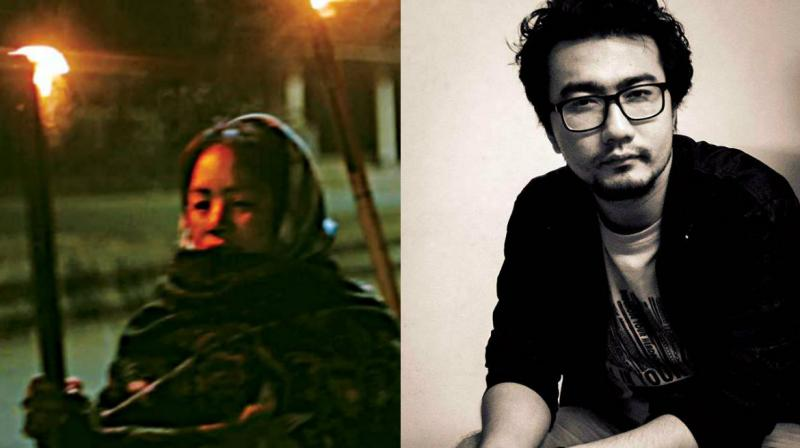 (Left) A still from Fireflies, a Manipuri documentary. (Right) Director Johnson Rajkumar. (Photo: DC)