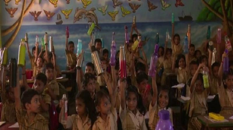 """Speaking to ANI, Jose MJ, Principal of Indraprastha Vidyalaya, said: """"It has been observed that as the temperature of the environment rises, so do several health complications like stomach pain and drowsiness."""" (Photo: ANI)"""