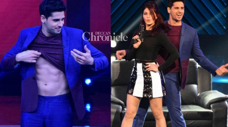Sidharth Malhotra and Jacqueline Fernandez, lead actors of 'A Gentleman' promoted the upcoming action film on the sets of the reality shows 'The Drama Company' and 'Dance Plus'  on Sunday. (Photo: Viral Bhayani)