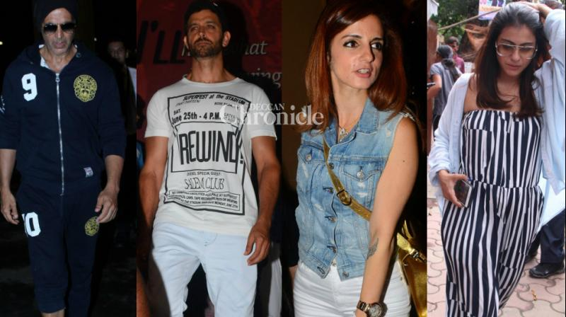 Shutterbugs spotted Bollywood celebrities at various locations in Mumbai on Sunday. (Photo: Viral Bhayani)