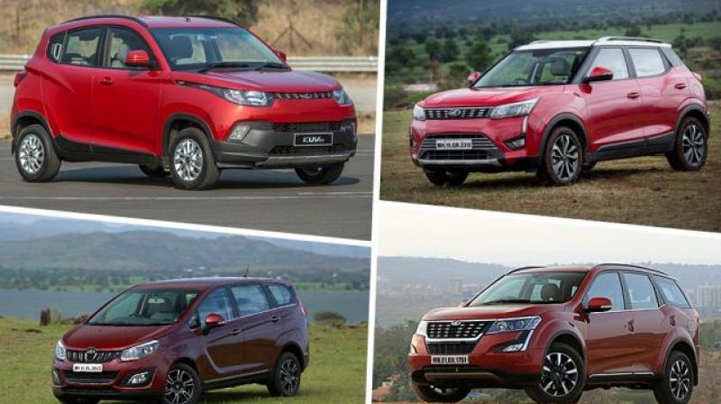 Mahindra is offering discounts on nine models in its lineup.