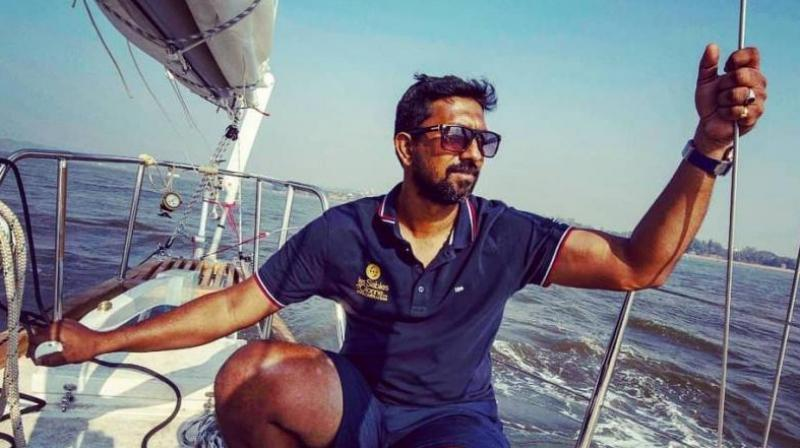 Naval officer Commander Abhilash Tomy is the only Indian to sail around the world non-stop and solo. (Photo: Facebook)