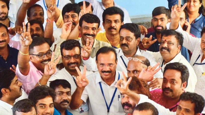 D.V. Sadananda Gowda after his win (Photo: DC)