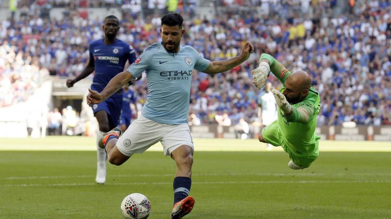 Pep Guardiola has challenged Manchester City to prove they are capable of holding off Liverpool by beating Chelsea at the Etihad Stadium on Sunday. (Photo: AP)