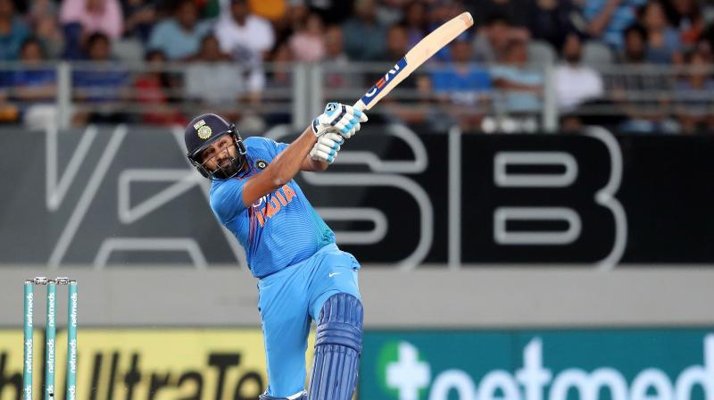 Sharma top-scored for the tourists with 50 as India chased down New Zealand's modest 159-run target in 18.5 overs, levelling the three-match series at 1-1. (Photo: AFP)