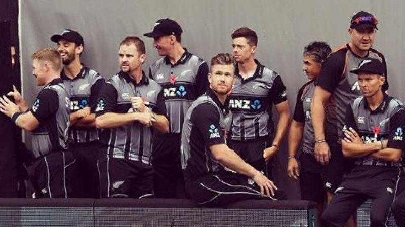 After facing defeat in the super over in the final T20I of the five-match series against England on Sunday, New Zealand all-rounder Jimmy Neesham was seen asking the almighty if the script of England-New Zealand matches could be changed. (Photo:Instagram)