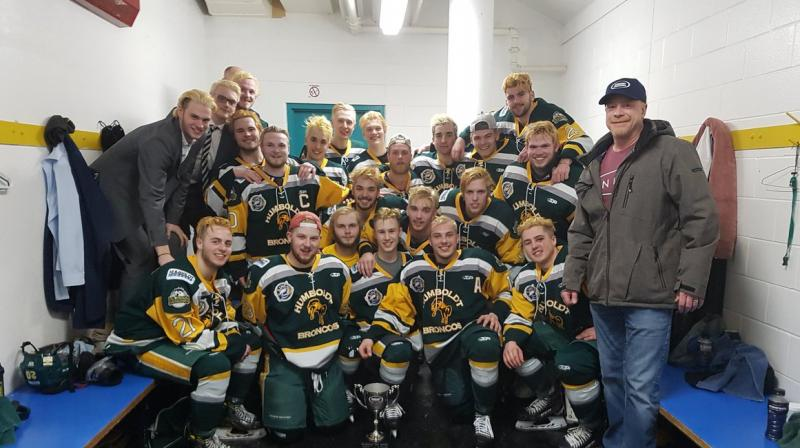 'Our Broncos family is in shock as we try to come to grips with our incredible loss,' Broncos team president Kevin Garinger said in a statement. The team comprises 24 players, all from Canada, with the youngest aged 16 and the oldest 21. (Photo: Twitter/ @HumboldtBroncos)
