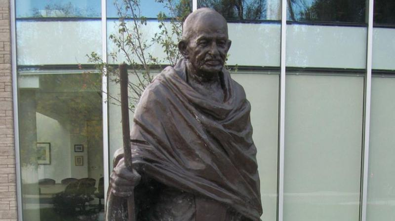 Spearheaded by Kenneth Aliu, president of the Institute of African Studies Student Association the campaign sparked off following Aliu's opinion piece wherein he accuses Gandhi of racism and being 'anti-black'. (Photo: Gandhiji.ca)
