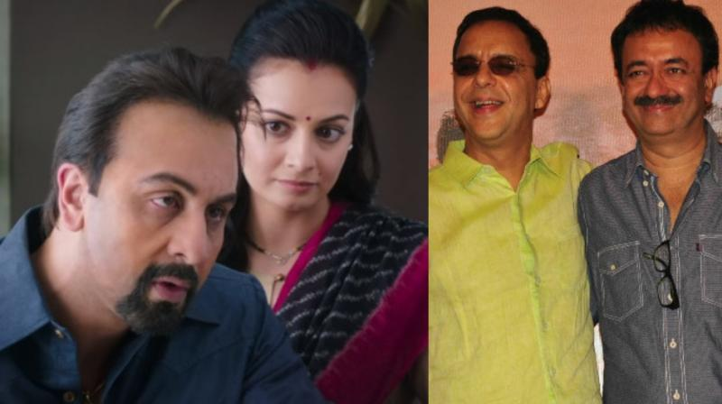 Ranbir Kapoor, Dia Mirza, Rajkumar Hirani and Vidhu Vinod Chopra