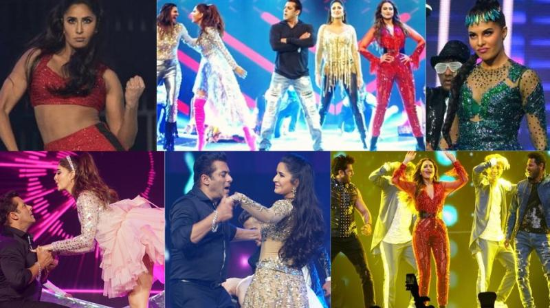 Salman Khan and his team dazzled with their performances during the Da-Bangg Tour concerts held in USA on Friday and Saturday. (Photos: Instagram/ thejaevents)