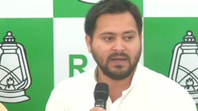 """Reacting sharply JD(U) leaders downplayed the Opposition's claim on the manifesto and said that, """"Nitish Kumar's seven resolves and his vision has benefitted every class in Bihar. People trust him and have been voting for development and economic growth in Bihar"""". (Photo: ANI/twitter)"""