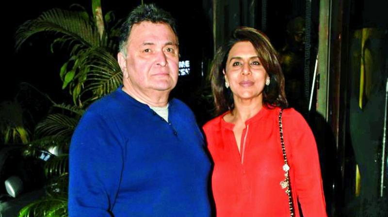 Rishi Kapoor with wife Neetu Kapoor