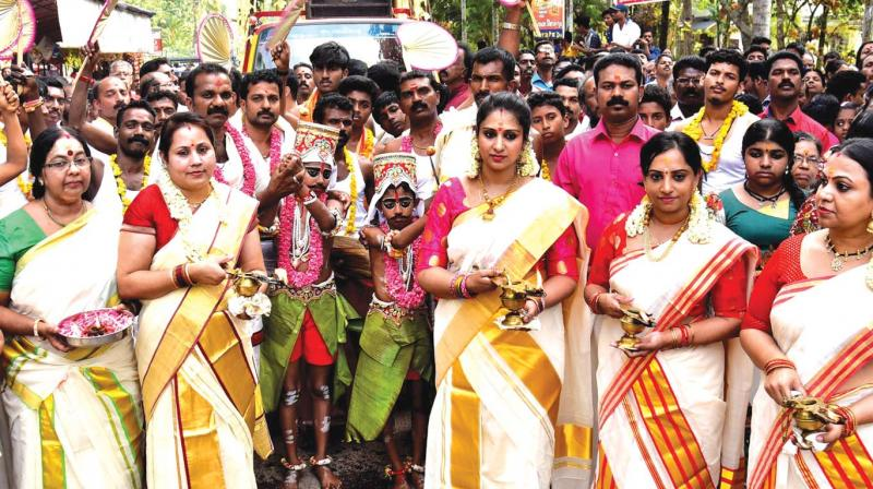 Children at the centre were made to perform Chooral Muriyal in March last as part of Kuttiyottam ritual offered by Rajya Sabha MP Suresh Gopi.