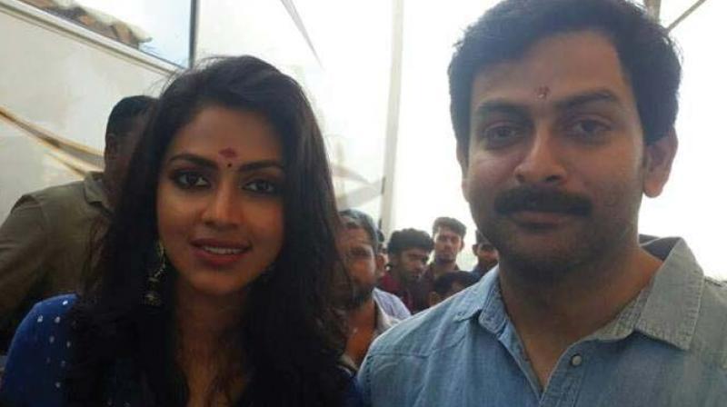 Prithviraj with Amala Paul