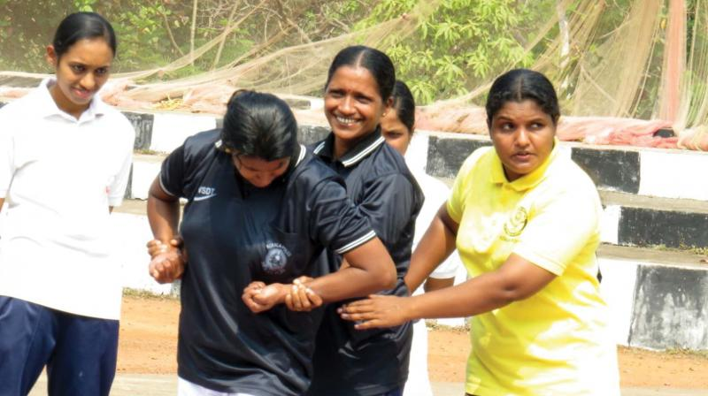 Self defence training held at KAP4 held as part of International Women's Day.  (Representational image)