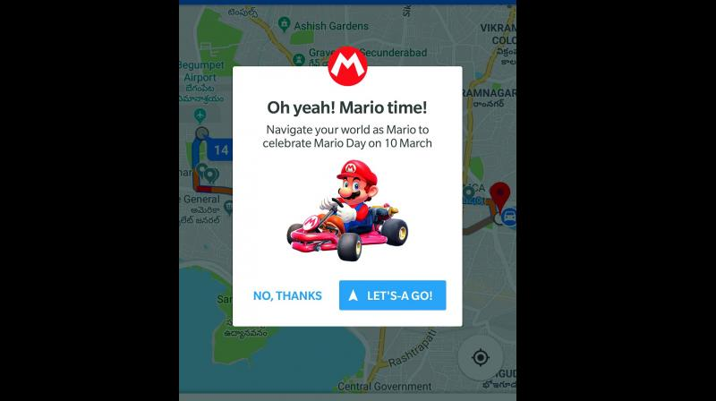Google Maps is turning into 'Mario Kart' today to celebrate Mario Day
