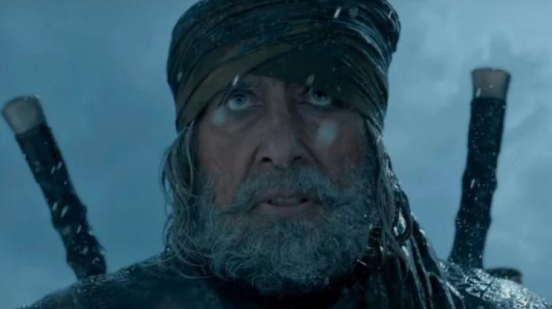 Amitabh Bachchan in a still from Thugs Of Hindostan.
