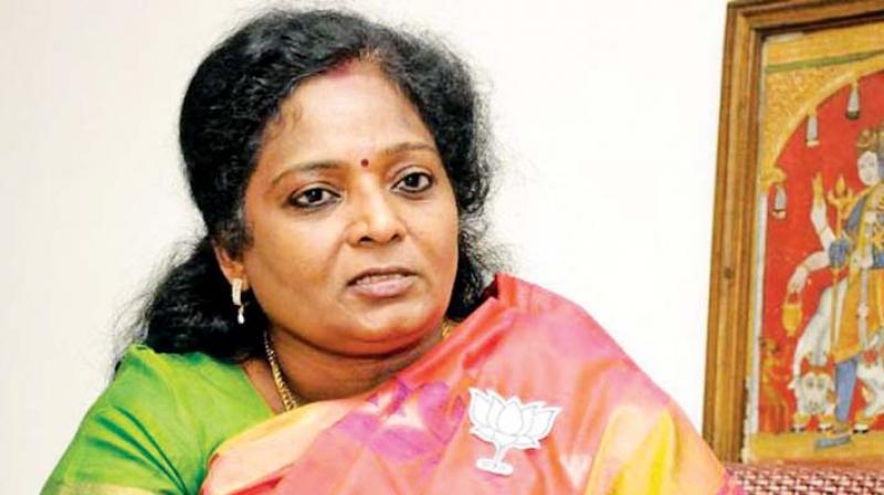BJP state president Dr Tamilisai Soundararajan