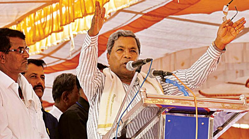 Chief Minister Siddaramaiah during his visit to Chamundeshwari constituency in Mysuru. (Photo: DC)