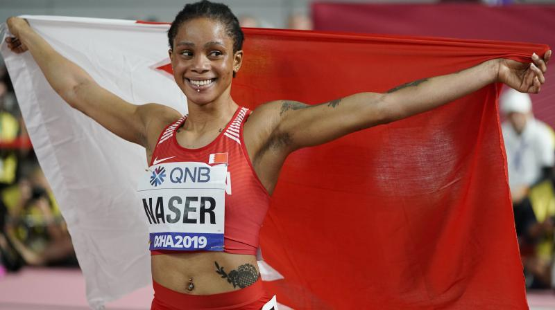Naser, who is 21-year-old, clinched a gold medal while Shaunae Mille-Uibo of The Bahamas had to settle for a silver medal. (Photo: AP)