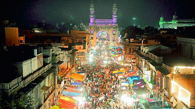 Thousands of people visit the Old City for shopping from across the state and even adjoining Karnataka, Andhra Pradesh and Maharashtra.