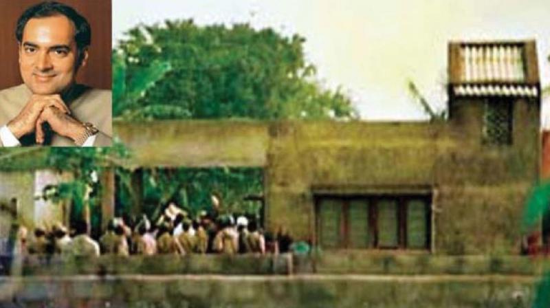 The house in Konanakunte where Rajiv Gandhi's assassins were holed up. (Inset) Rajiv Gandhi