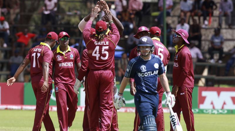 West Indies qualifies for World Cup as rain sinks Scotland