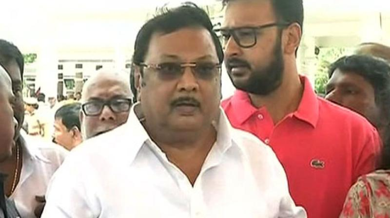 Alagiri, a former union minister, is the elder brother of MK Stalin, who is the current president of DMK. (Photo: ANI)