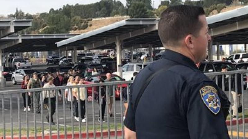 Captain Kent Wegener of the Los Angeles County Sheriff's Department told reporters the entire incident, captured on videotape, took 16 seconds as the young man stood in one spot and fired on one student after another.  (Photo: Twitter)