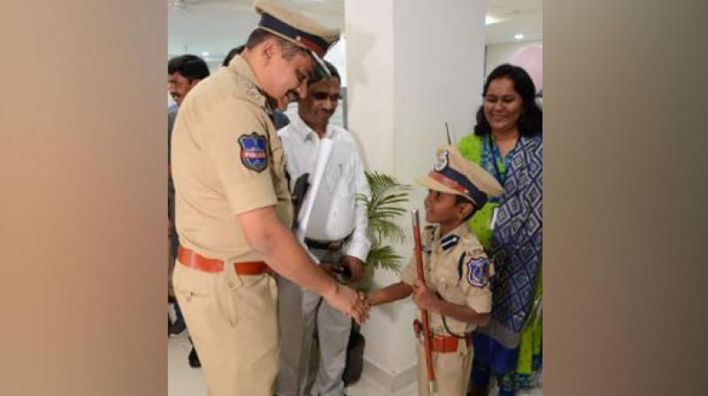 The IPS officer, Mahesh Bhagwat, Commissioner Rachakonda was the chief guest for the program. (Photo: ANI)