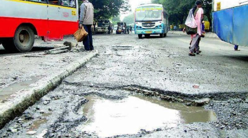The Palike did make an attempt to fill the potholes some weeks ago, but the shoddy execution has ensured that the craters are back to haunt the people, said Mr Narendra Kumar, a resident of Banasawadi. (Representional Image)