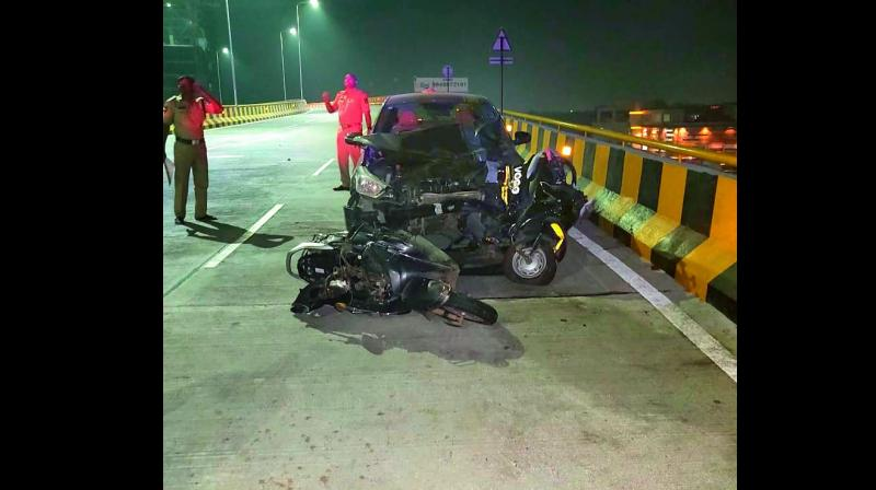 Hyderabad Drunk Techie S Car Kills Two On Flyover