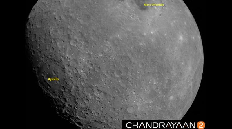 The Apollo is a 538 km-wide crater named after NASA's Apollo moon missions and it is located on the moon's southern hemisphere. The Mare Orientale, on the other hand, is said to be over 3 billion years old and about 950 km wide. (Photo: ISRO | Twitter)