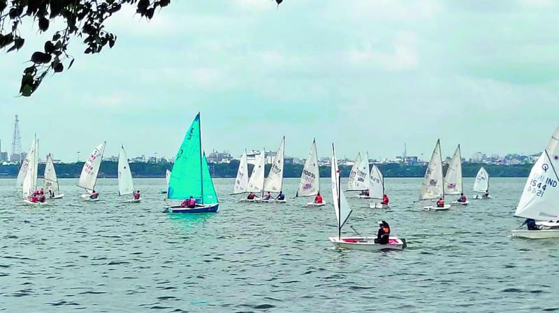 Sailing enthusiasts who took part in this year's Bart's Bash