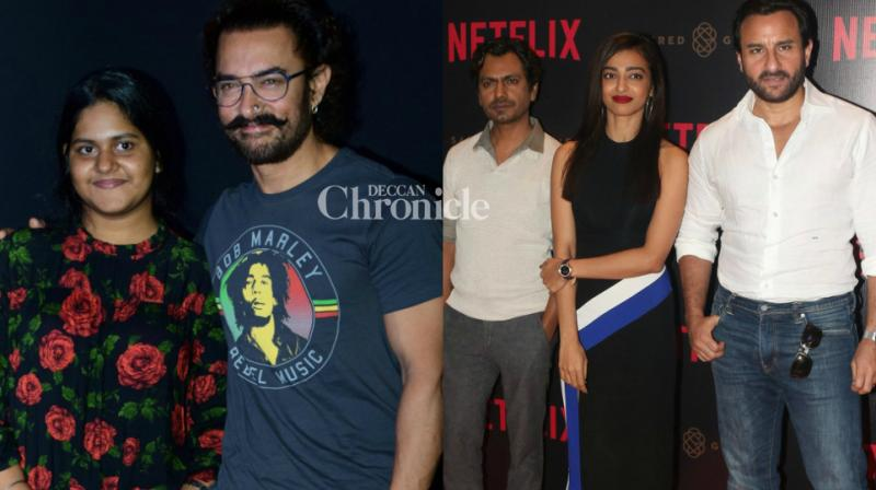 Aamir Khan launched a song from his upcoming film 'Secret Superstar', while Netflix series 'Sacred Games' unveiled its lead actors, at separate events in Mumbai on Monday. (Photo: Viral Bhayani)