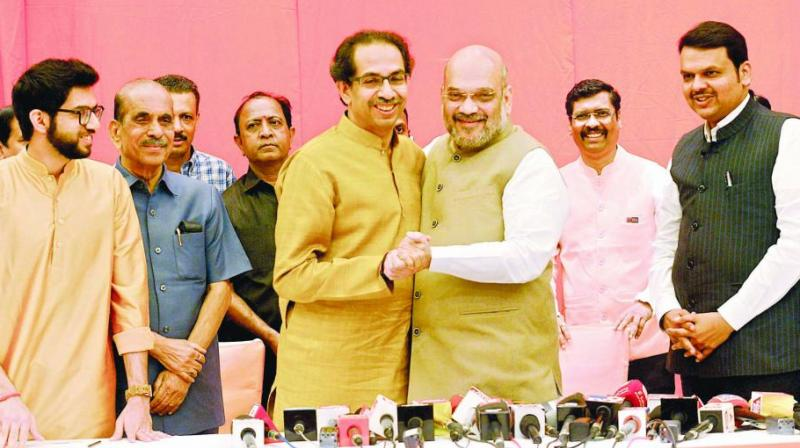 In 2014, the two partners contested separately. While the BJP won 122 seats, the Sena ended up with just 63.