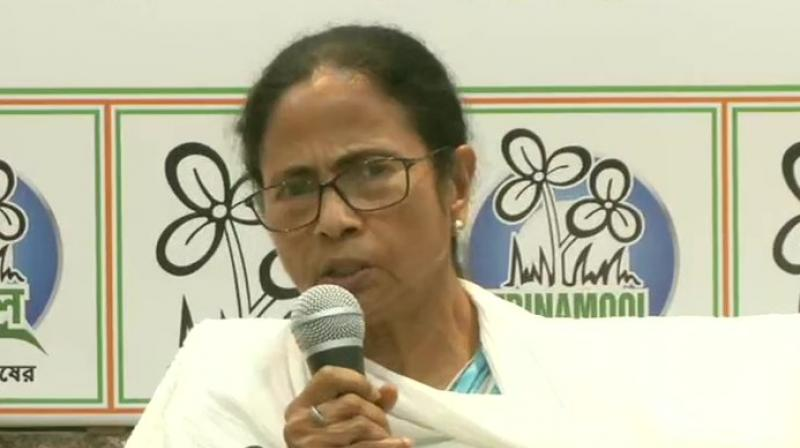 Mamata Banerjee addressing the press conference (Photo: ANI)