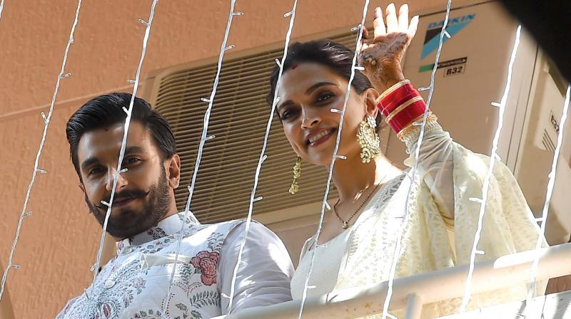 Spotted: Deepika Padukone and Ranveer Singh twinning in white