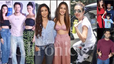 Bollywood celebrities like Tiger Shroff, Tara Sutaria, Ananya Panday, Shilpa Shetty Kundra, Malaika Arora and others were snapped in Mumbai. (Photos: Viral Bhayani)