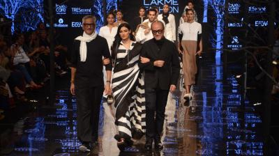 Athiya Shetty was the showstopper for Abraham and Thakore's collection at Lakme Fashion Week. (Photo: File)