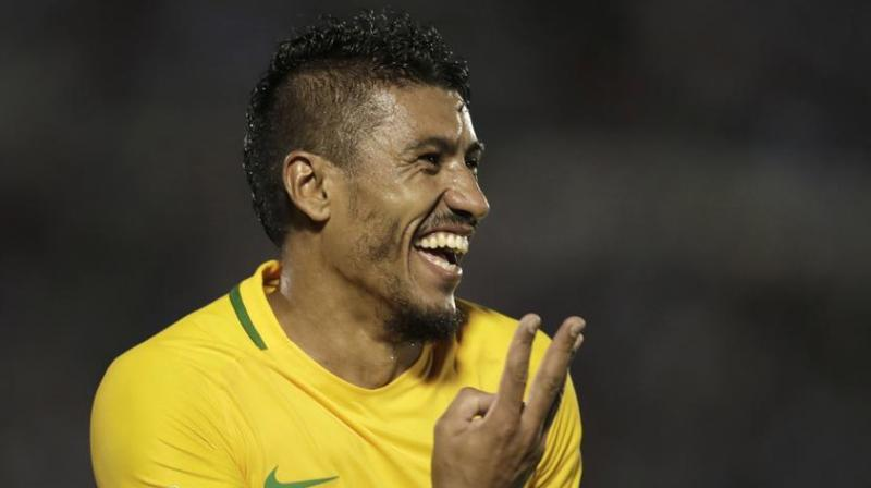 Paulinho has established himself as a regular in a rejuvenated Brazil side since the appointment of Tite as coach a year ago, most notably scoring a hat-trick in a 4-1 win away to Uruguay in World Cup qualifying back in March.(Photo: AP)