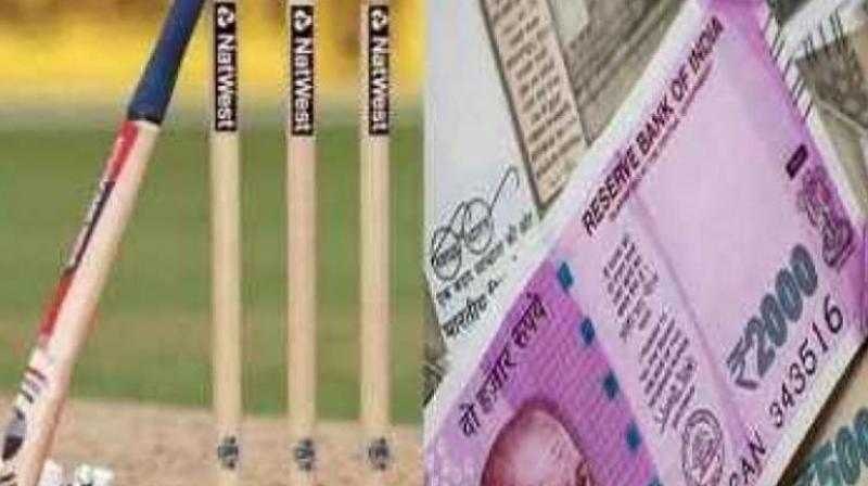The cops have nabbed six persons and seized an amount of Rs 8 lakh which was used for betting.